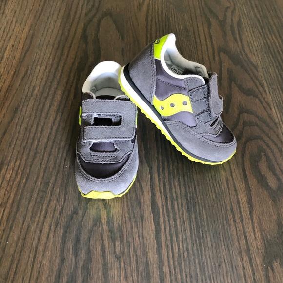 5292decc Saucony Baby Gray, Citron Slip-On Sneakers SZ 8